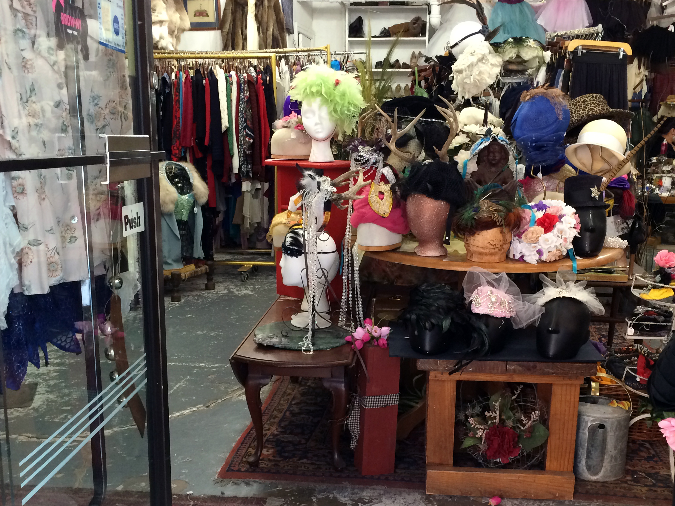 Hats at BrowNY International in New York. Photo by alphacityguides.