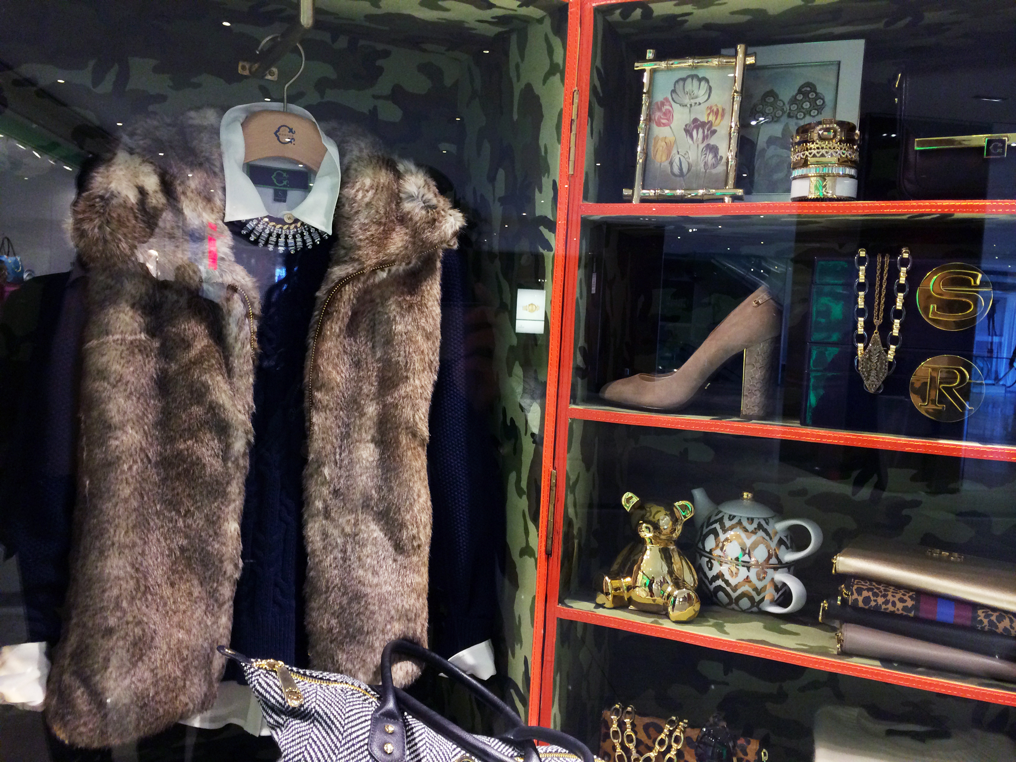 Fashion and accessory display at C. Wonder in New York. Photo by alphacityguides.