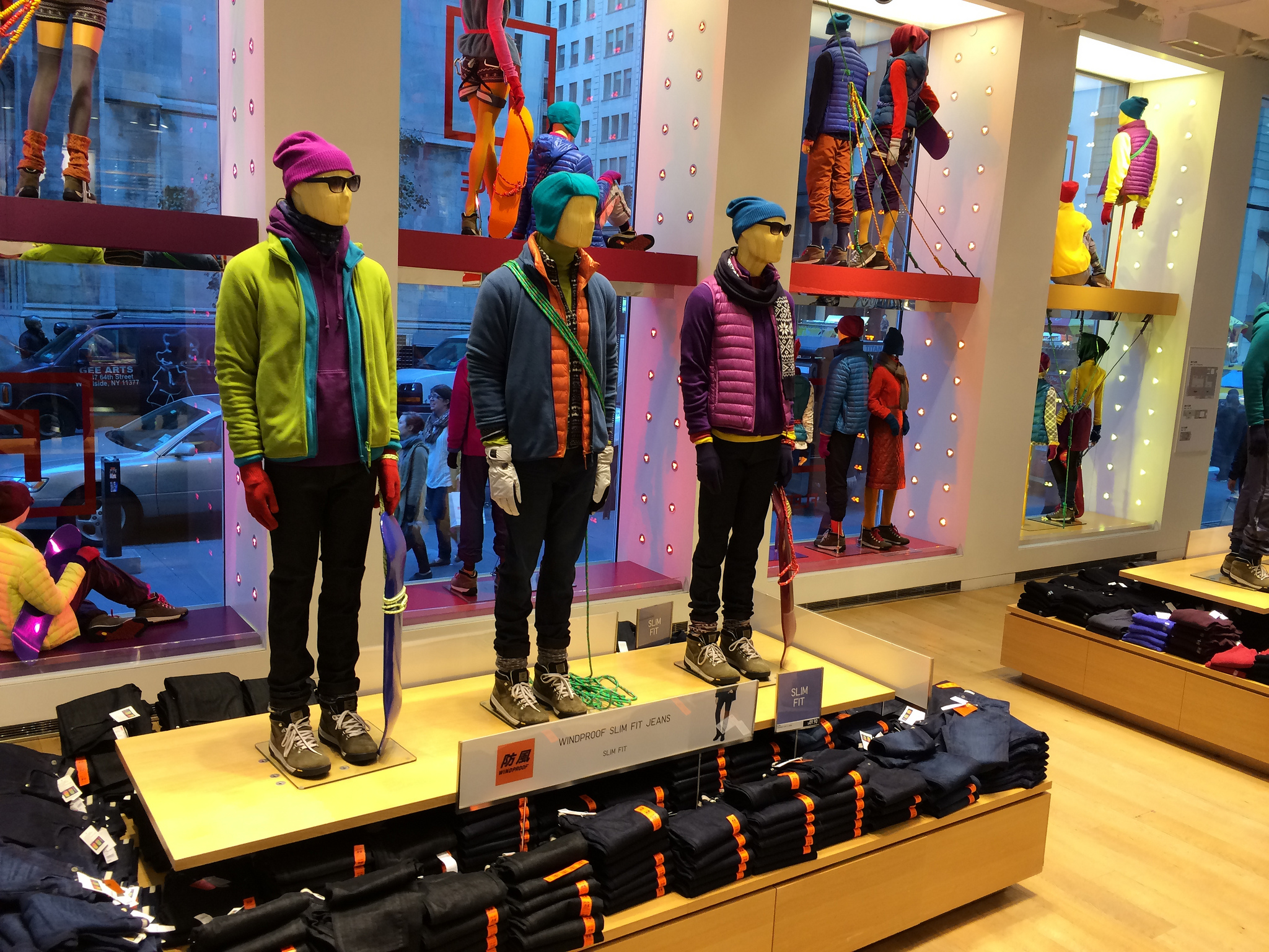 Uniqlo display in New York.