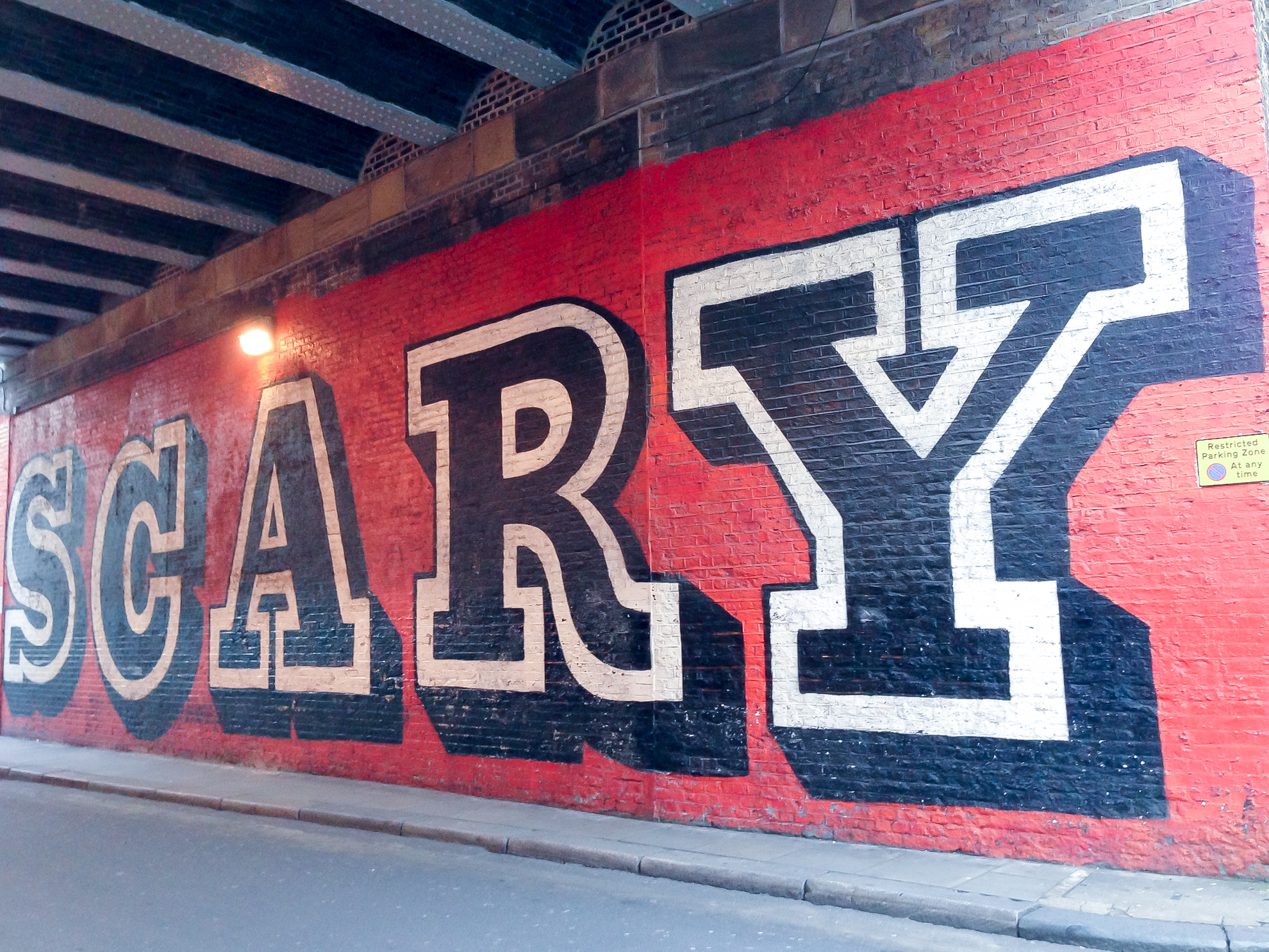 Ben Eine Scary mural in London.