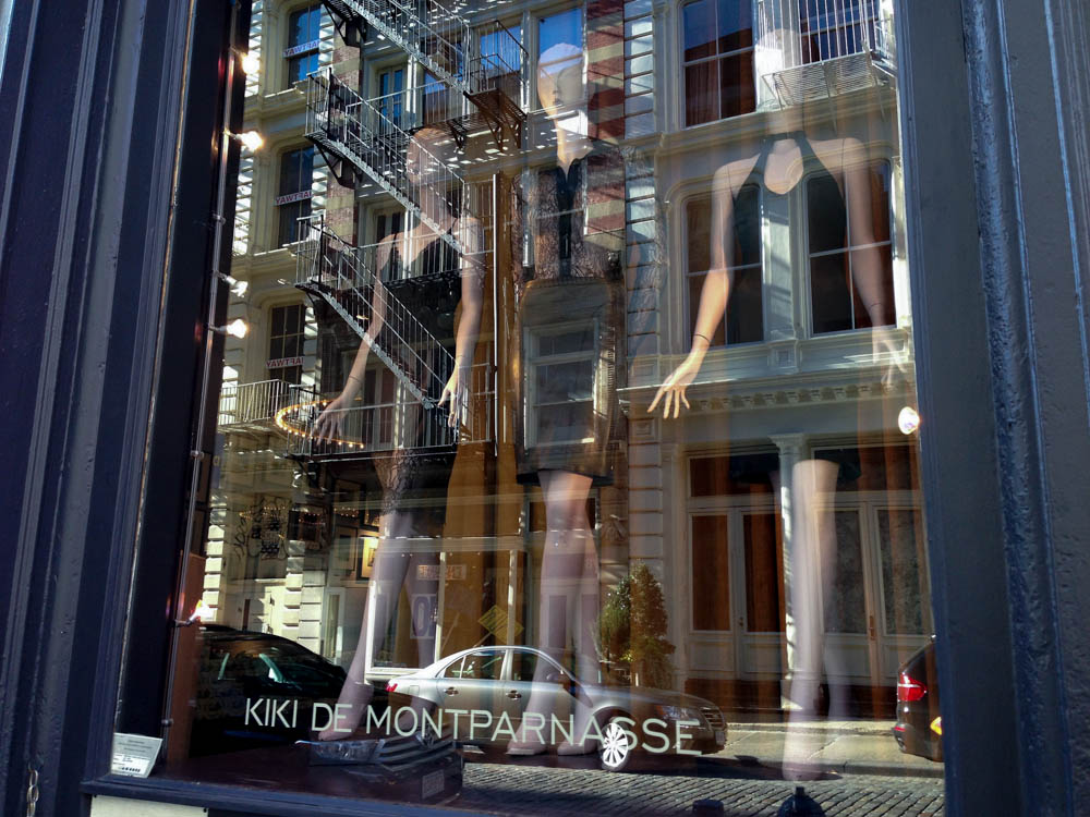 Window display at Kiki de Montparnasse in New York. Photo by alphacityguides.