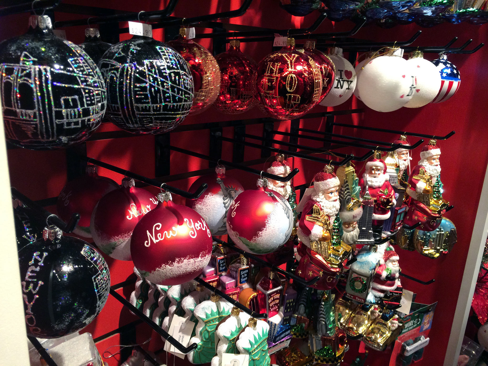 christmas decorations at columbus circle holiday market in new york photo by alphacityguides
