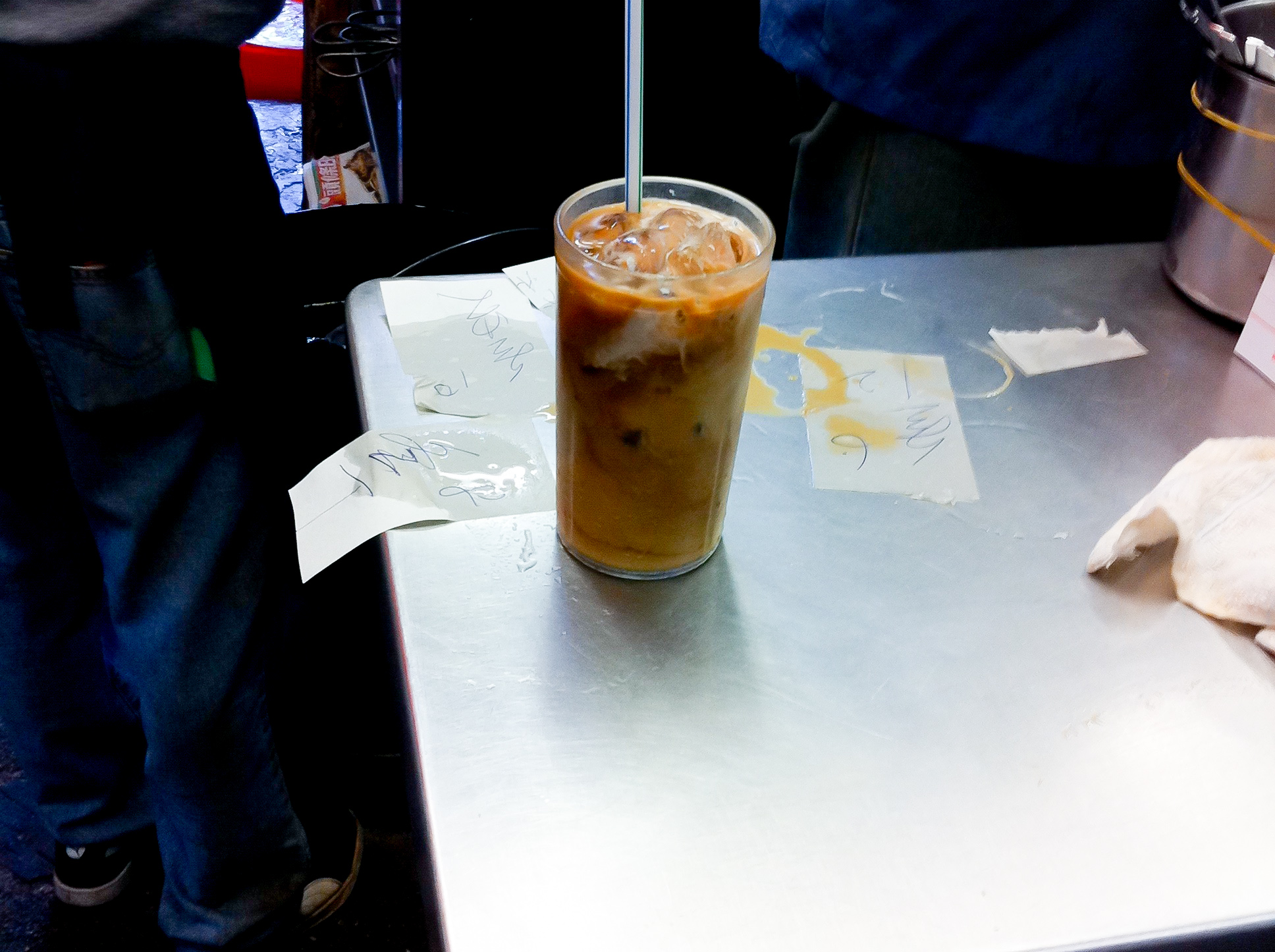 Hong Kong style milk tea at Lan Fong Yuen in Hong Kong. Photo by alphacityguides.
