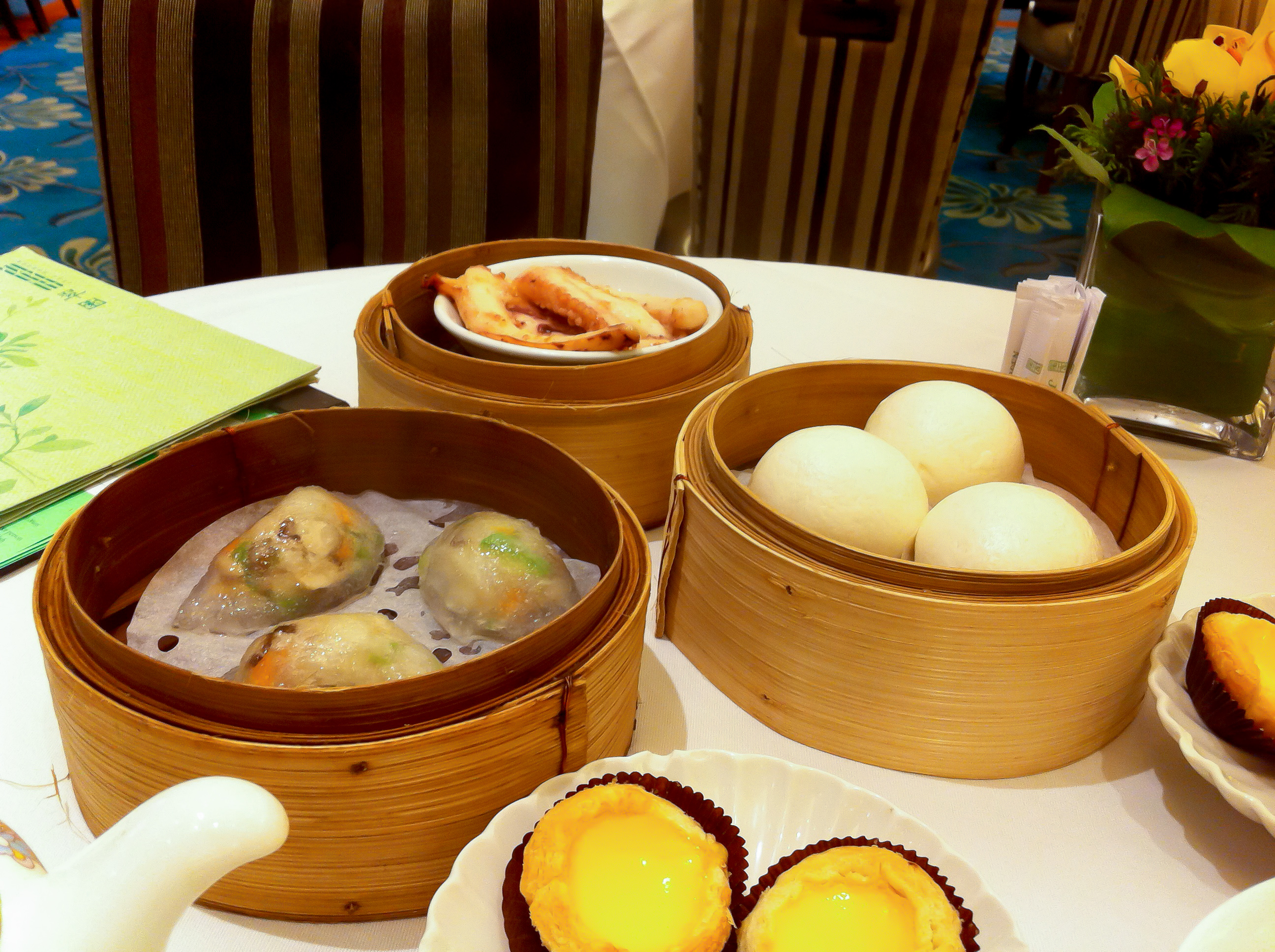 Dim Sum spread at Crystal Jade in Hong Kong. Photo by alphacityguides.