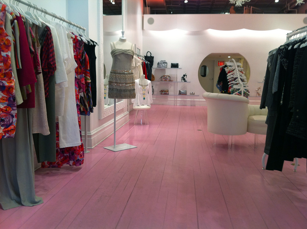Fashion inside Nanette Lepore in New York. Photo by alphacityguides.