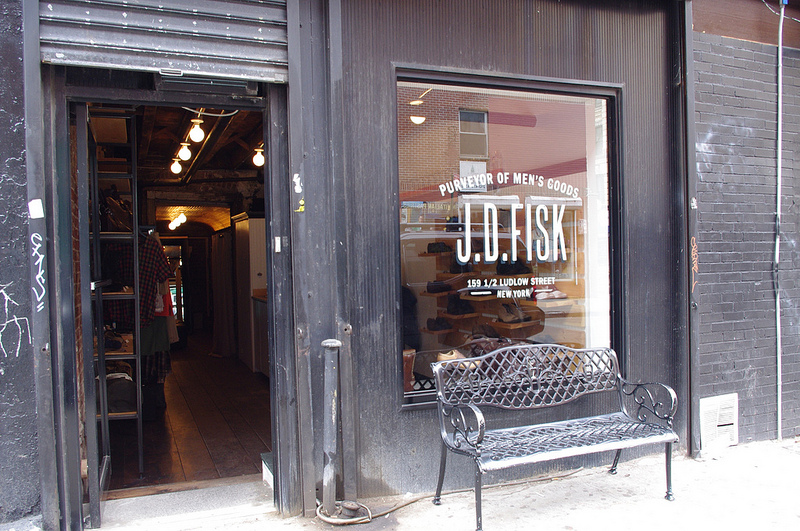 Store front at J.D. Fisk in New York. Photo by alphacityguides.