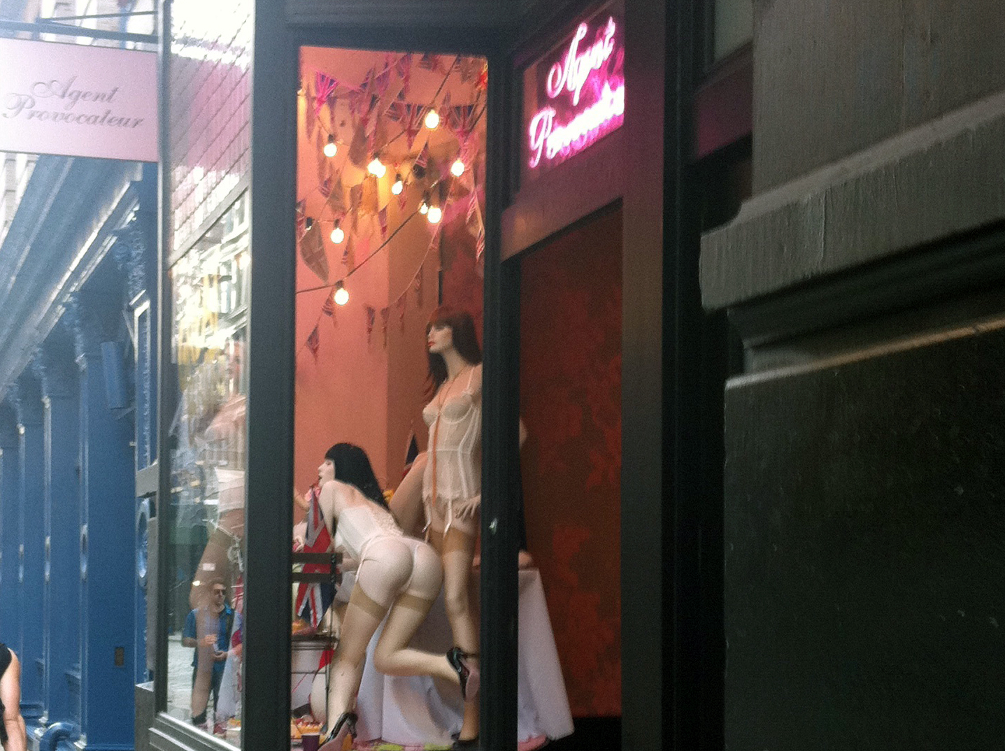 Store front at Agent Provocateur in New York. Photo by alphacityguides.
