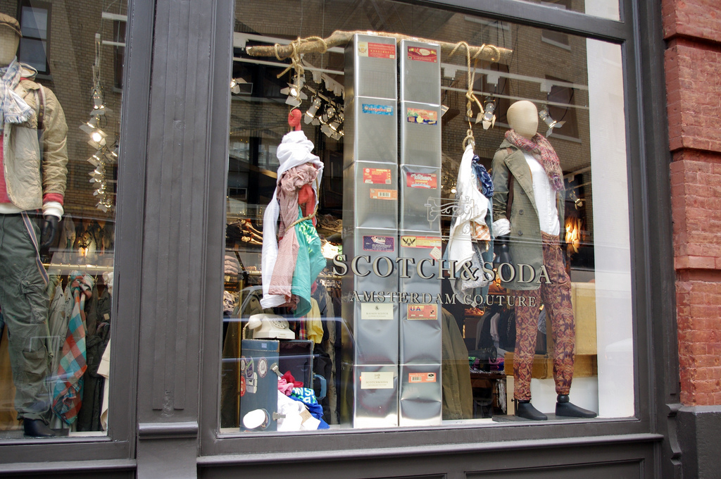 Window display at Scotch & Soda in New York. Photo by alphacityguides.