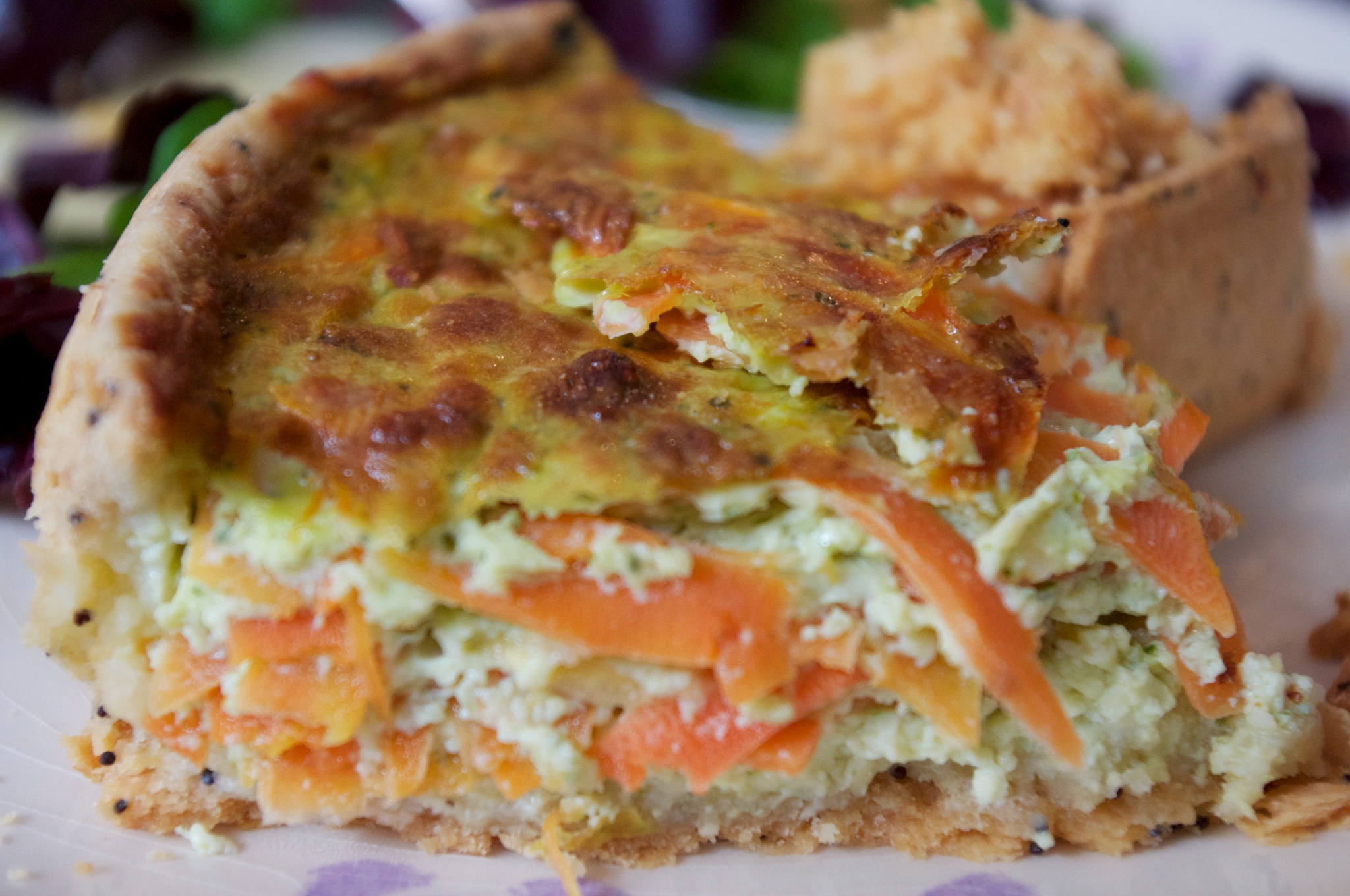 Savoury carrot tart from Tartes Kluger in Paris. Photo by alphacityguides.