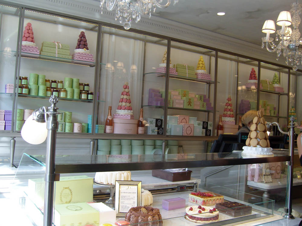Pastry shop Laduree in Paris. Photo by alphacityguides.