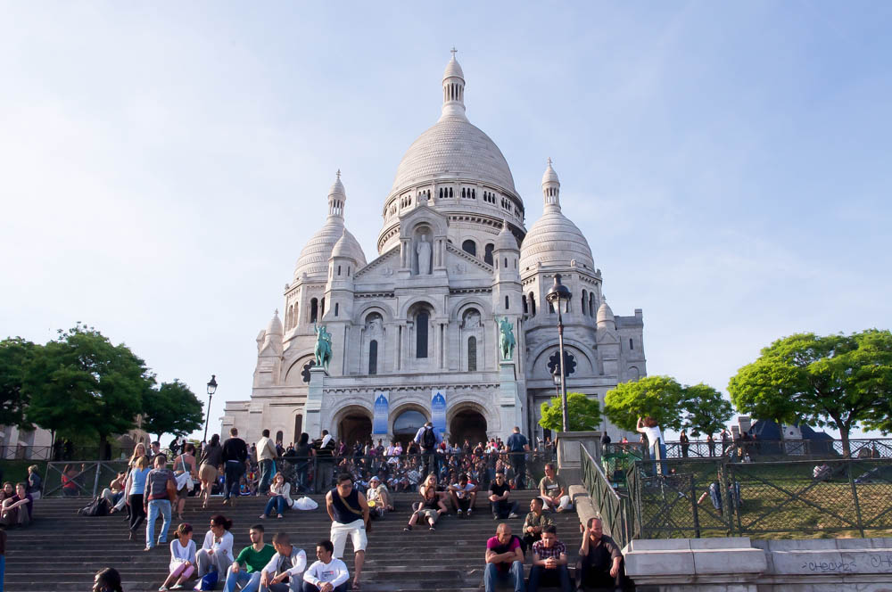 Steps at the Basilica of the Sacré Coeur in Paris. Photo by alphacityguides.