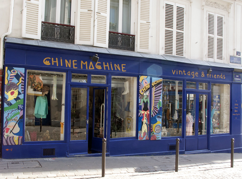 Store front at Chine Machine in Paris. Photo by alphacityguides.