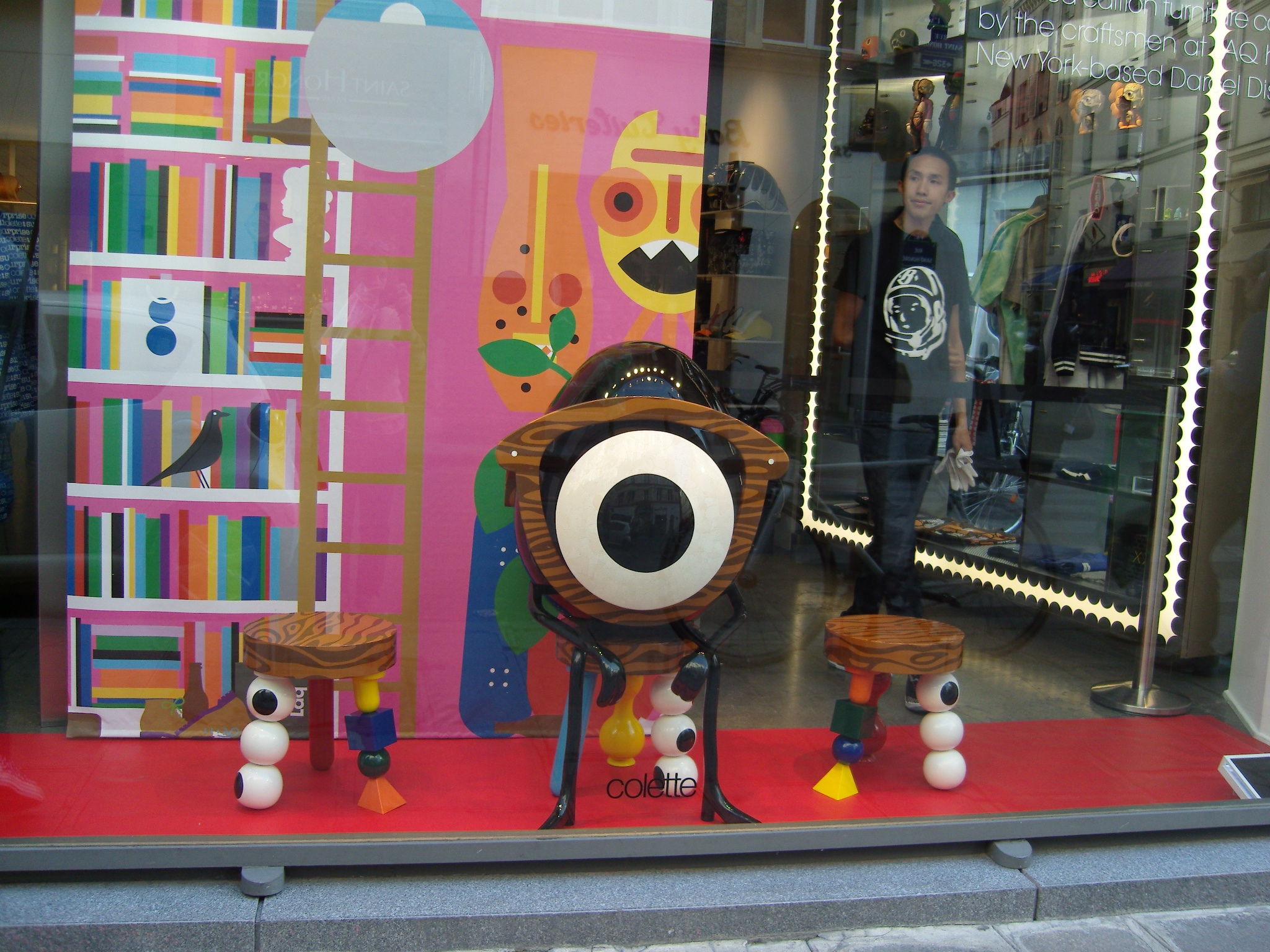 Window display at Colette in Paris. Photo by alphacityguides.