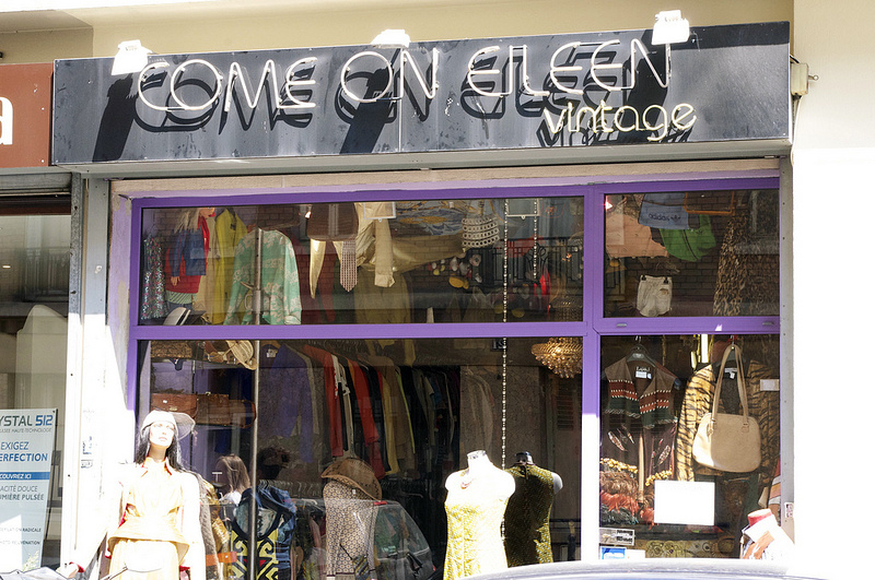Store front at Come on Eileen in Paris. Photo by alphacityguides.