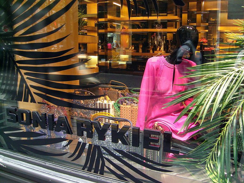 Window at Sonya Rykiel in Paris. Photo by alphacityguides.