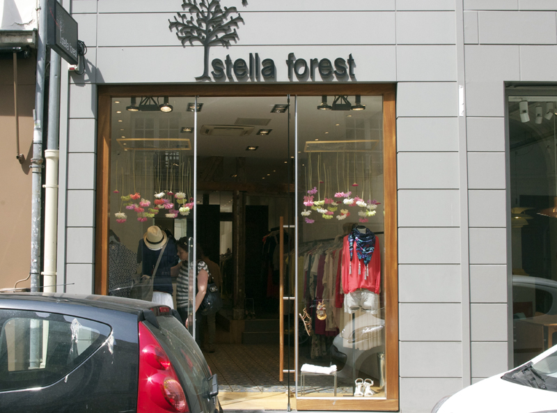 Store front at Stella Forest in Paris. Photo by alphacityguides.