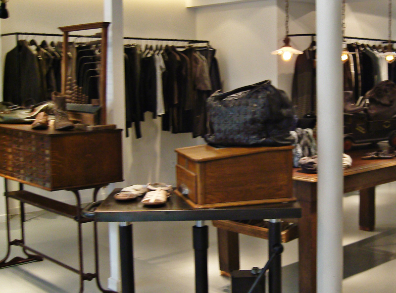 Fashion display inside Kamille in Paris. Photo by alphacityguides.