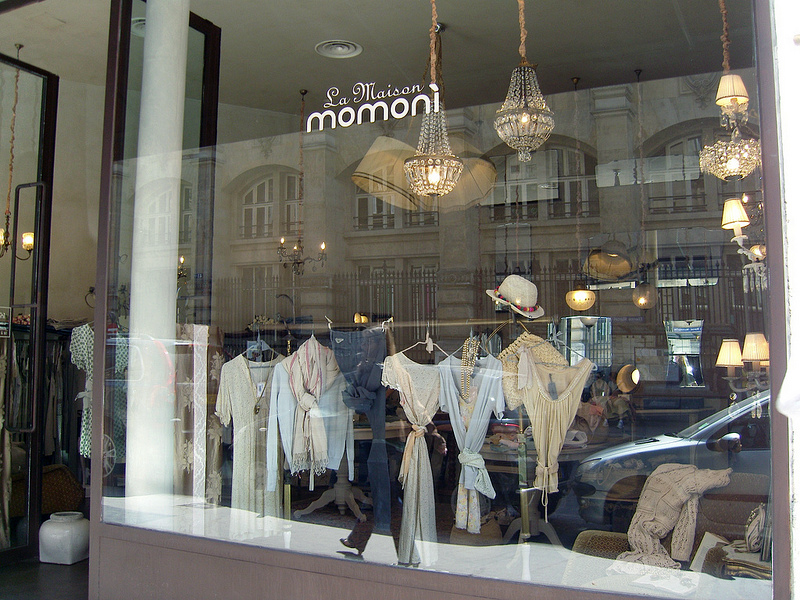 Store front at La Maison Momoni in Paris. Photo by alphacityguides.