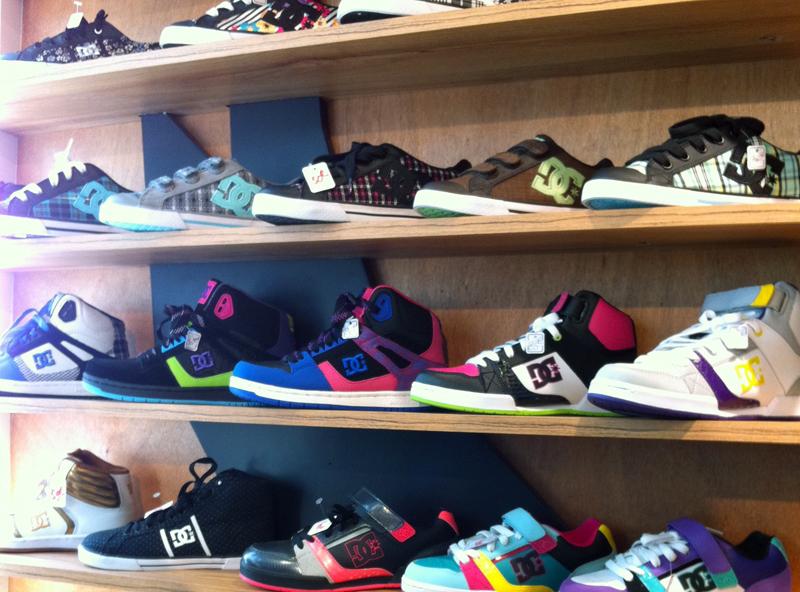 Sneakers inside Landscape Rockshop in Paris. Photo by alphacityguides.