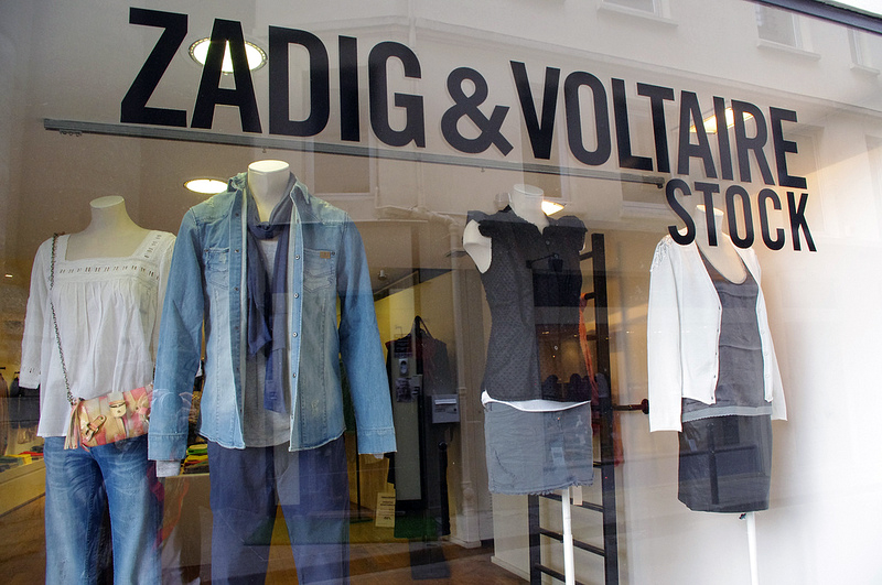 Window display at Zadig & Voltaire Stock in Paris. Photo by alphacityguide.