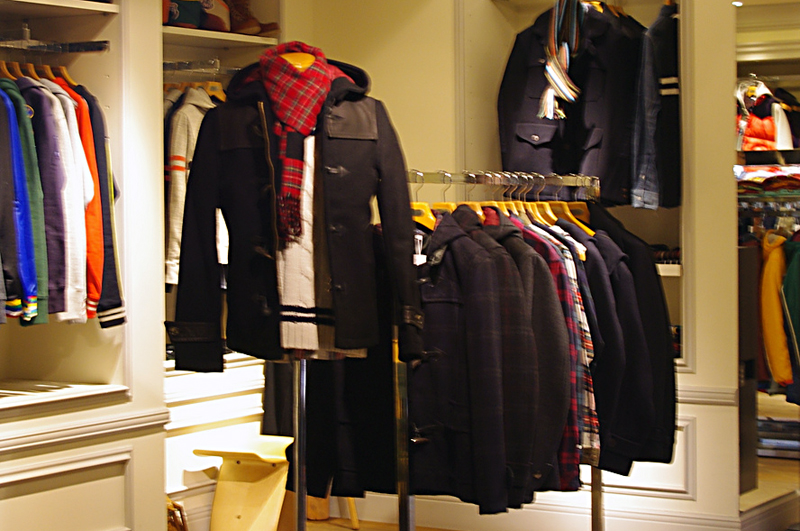Fashion inside The Duffer of St. George in Tokyo. Photo by alphacityguides.