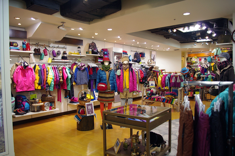 Fashion inside Aigle in Tokyo. Photo by alphacityguides.