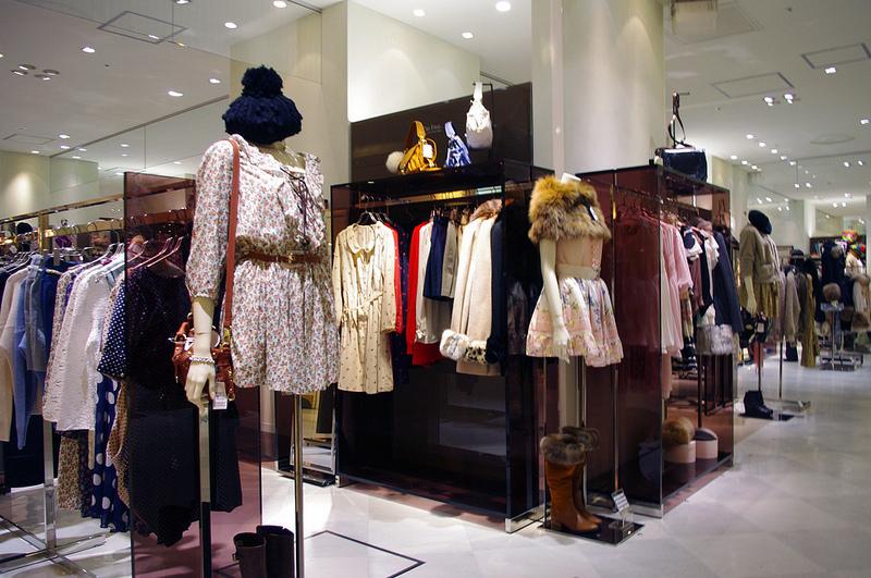 Fashion display inside Isetan.