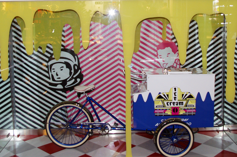 Display at Billionaire Boys Club & Ice Cream in Tokyo. Photo by alphacityguides.