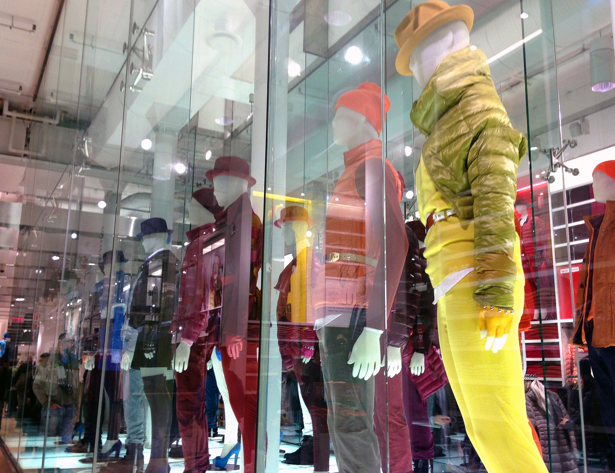 Display at Uniqlo in New York.