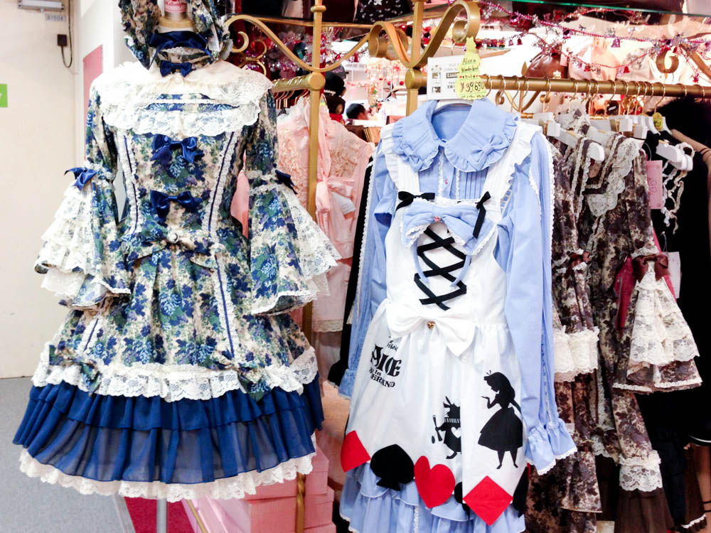 Lolita dresses at Bodyline in Tokyo. Photo by alphacityguides.