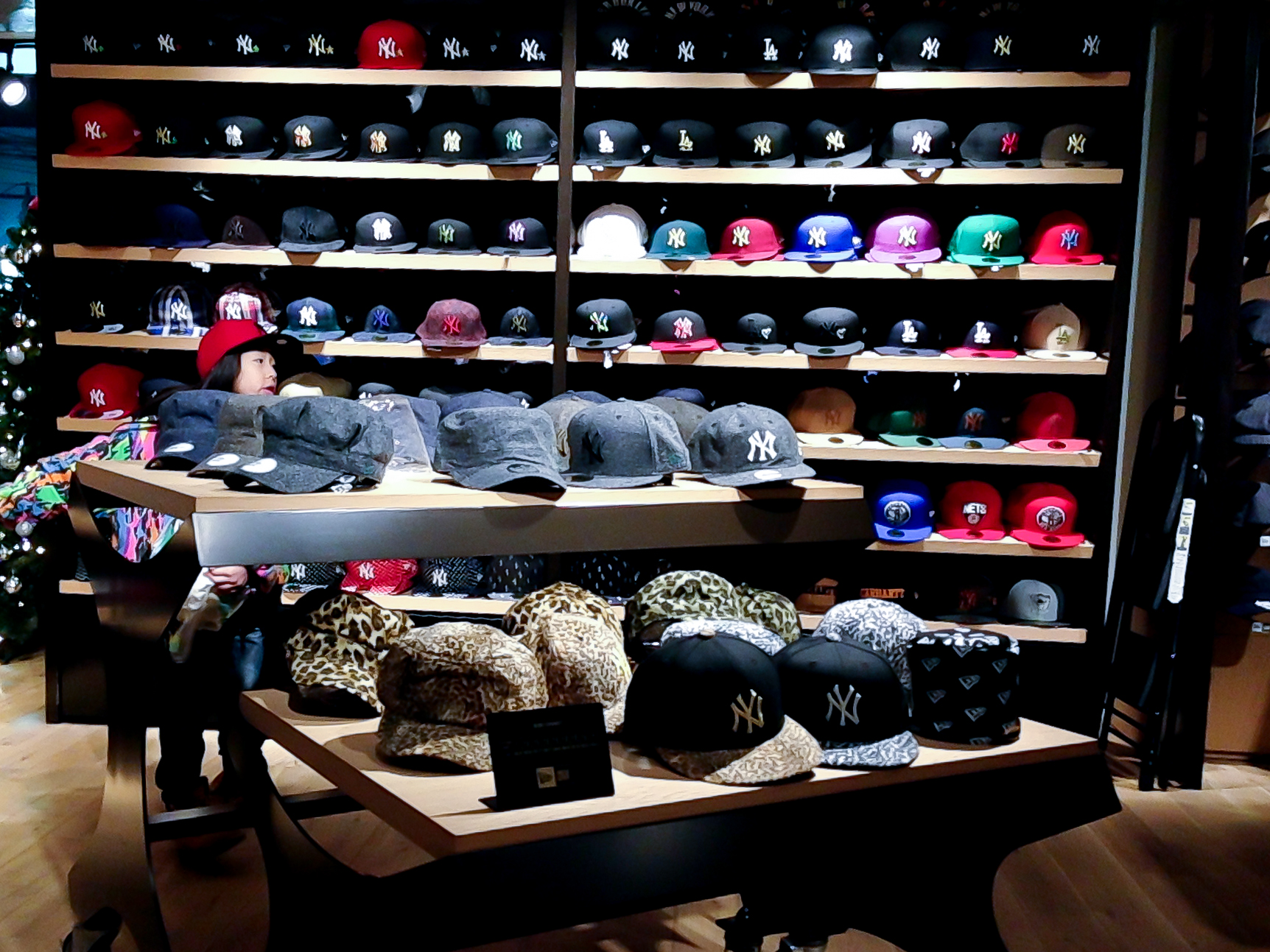 cdc1ca9cd085b Hat wall inside New Era in Tokyo. Photo by alphacityguides.