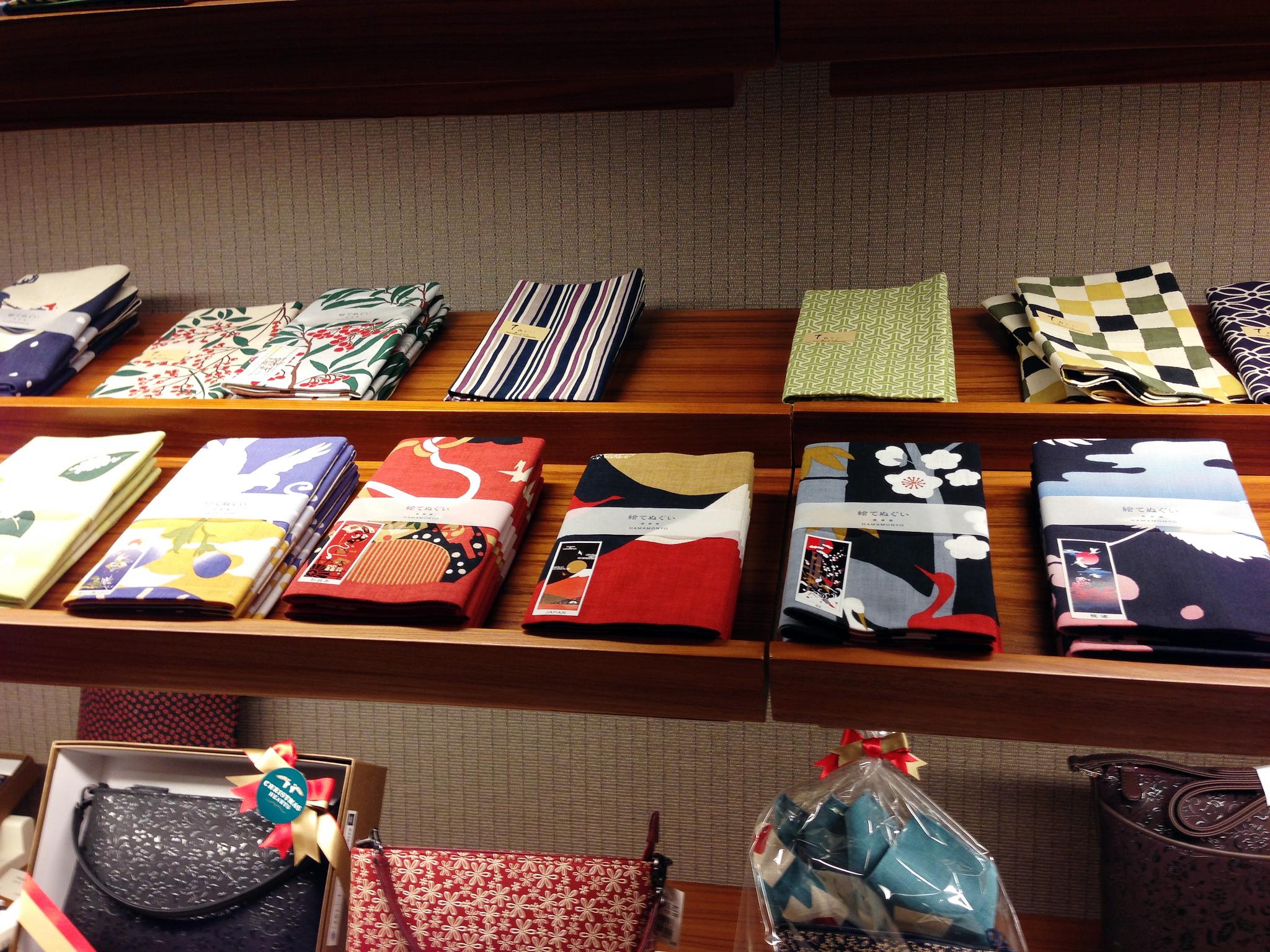 Japanese prints at Mitsukoshi department store in Tokyo.