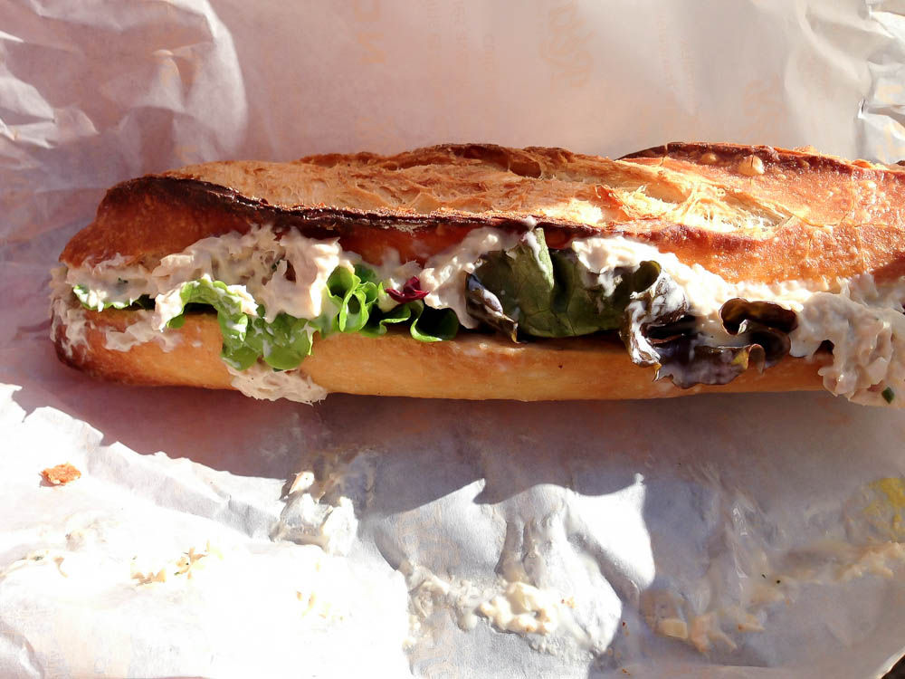 Sandwich at French Bakery Viron in Tokyo. Photo by alphacityguides.