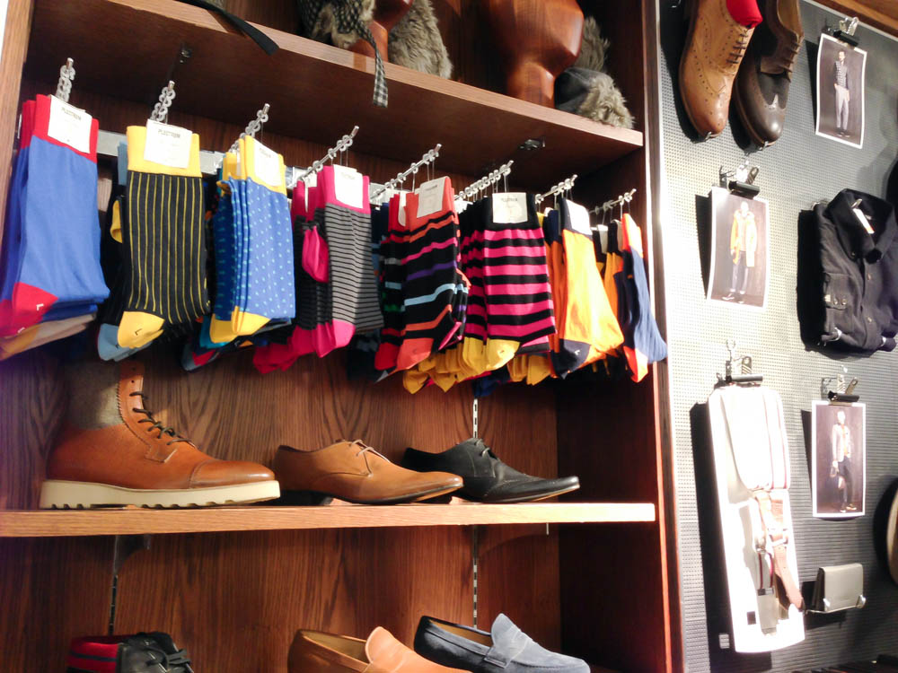 Ben Sherman socks in London. Photo by alphacityguides.