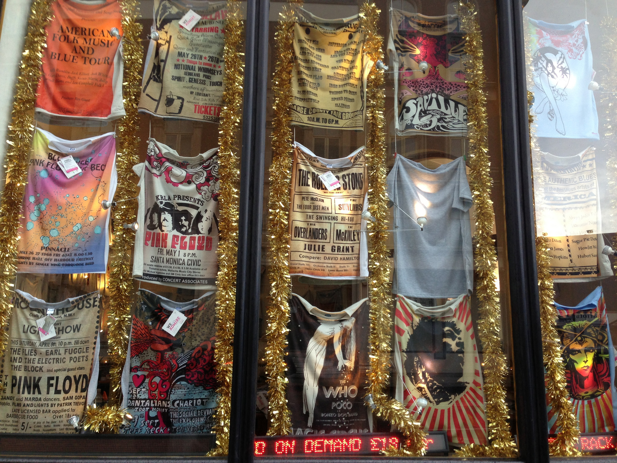 T-shirts at We Admire in London. Photo by alphacityguides.
