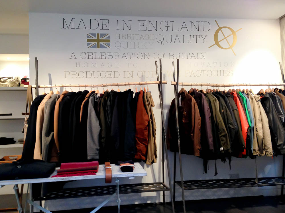Fashion display inside Cro' Jack in London. Photo by alphacityguides.