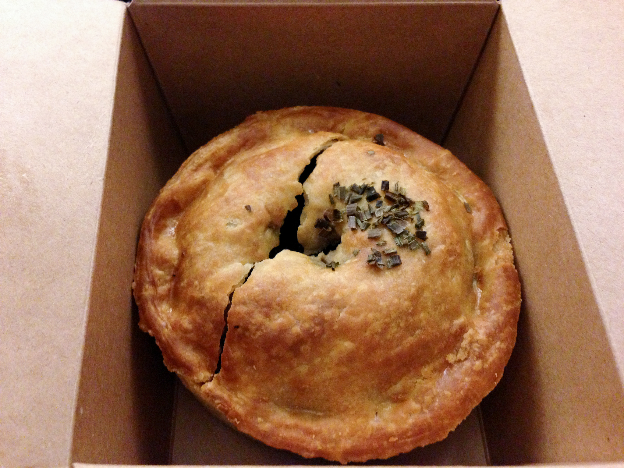 Pie to-go at Pieminister in London. Photo by alphacityguides.