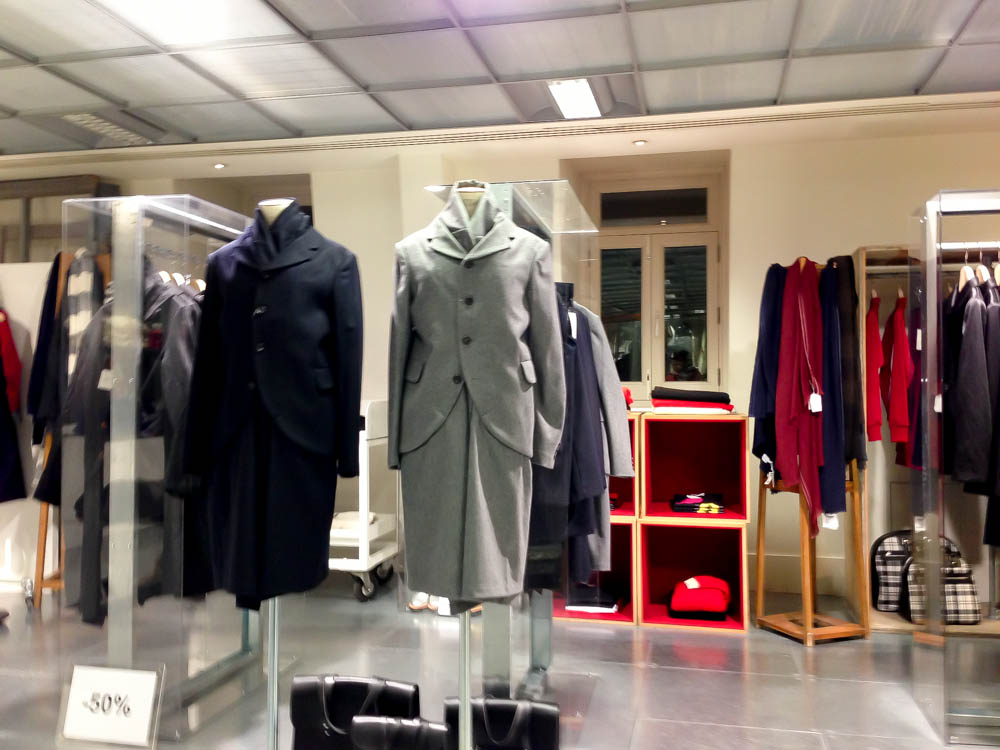 Fashion display inside The Dover Street Market London. Photo by alphacityguides.