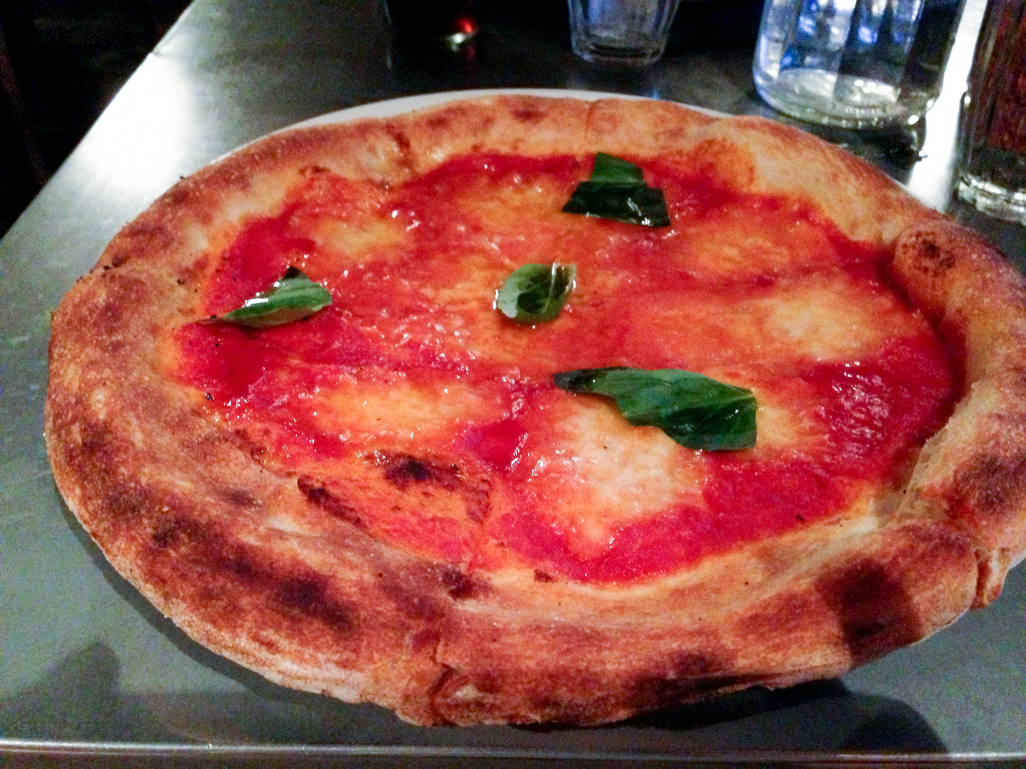 Margherita at Pizza East in London. Photo by alphacityguides.