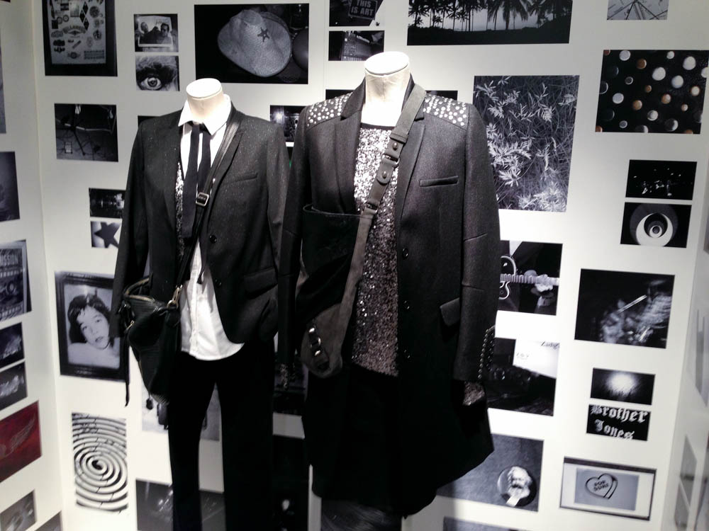 Fashion display inside Zadig & Voltaire in London. Photo by alphacityguides.
