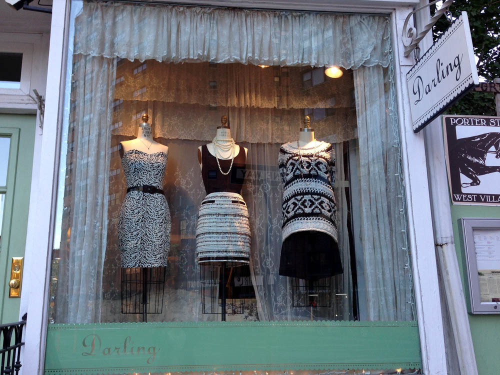 Window display at Darling in New York. Photo by alphacityguides.