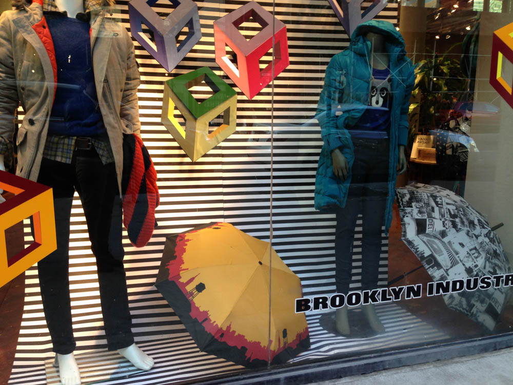 Window display at Brooklyn Industries in New York. Photo by alphacityguides.