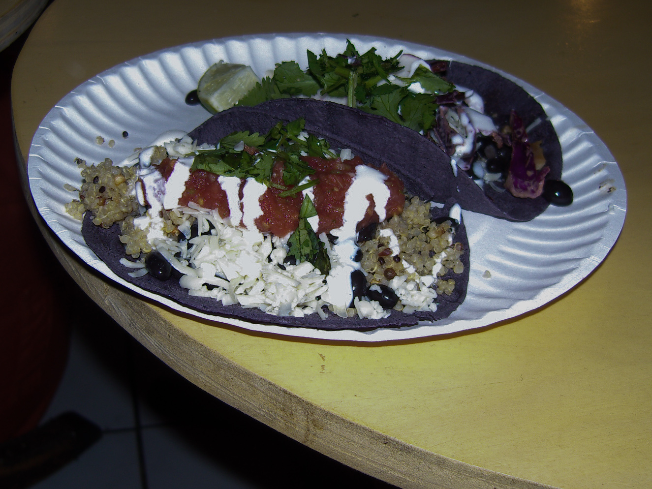 Blue corn tacos from Snack Dragon in New York City. Photo by alphacityguides.