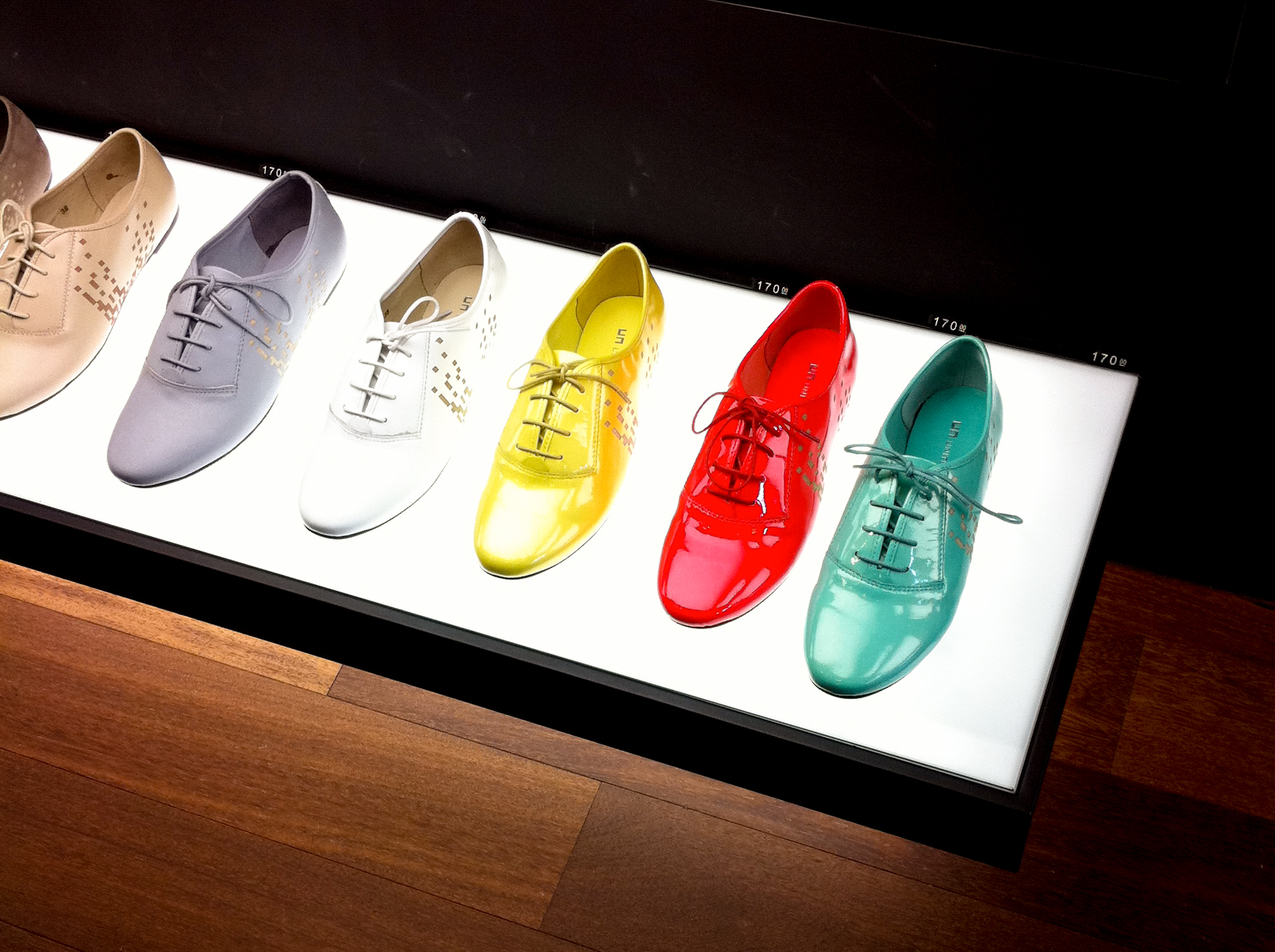 Colorful shoes at UN United Nude in New York. Photo by alphacityguides.