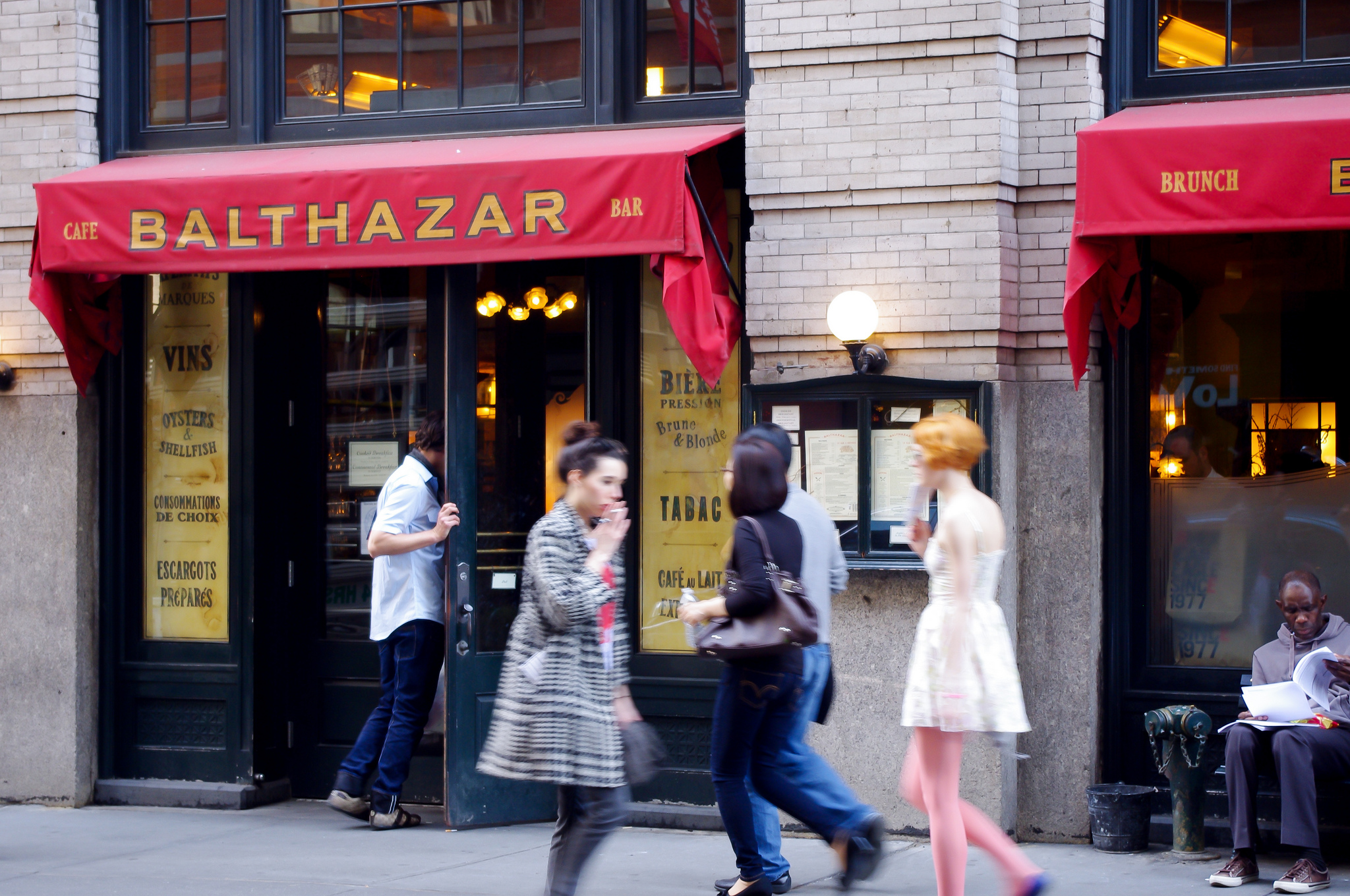 Cafe Balthazar in New York. Photo by alphacityguides.