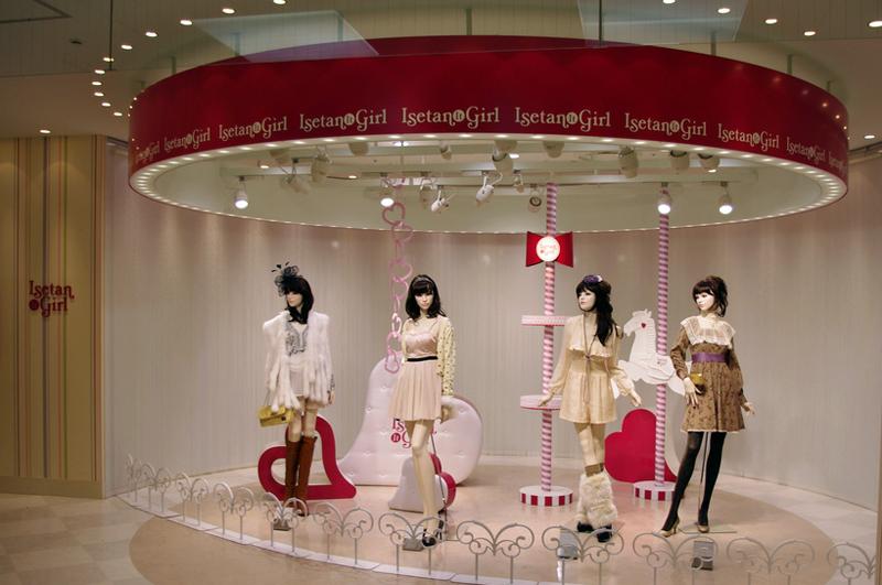 Isetan Girl display at Isetan, Tokyo.