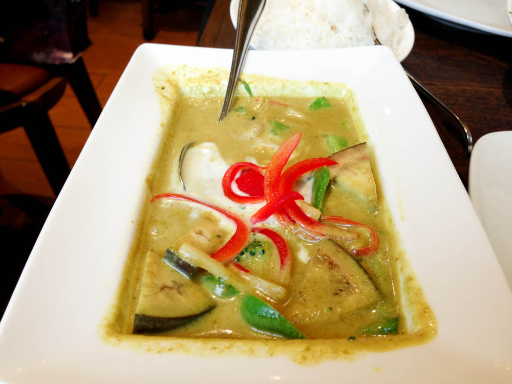 Prawn Green Curry at Thai Square in South Kensington, London. Photo by alphacityguides.