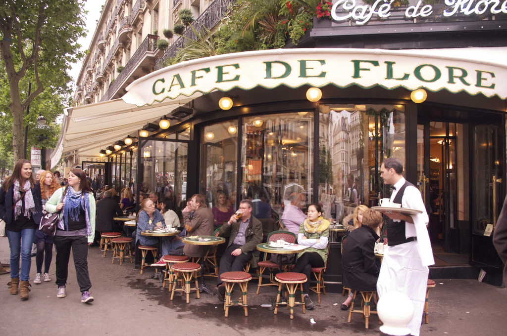 Café de Flore in Paris. Photo by alphacityguides.