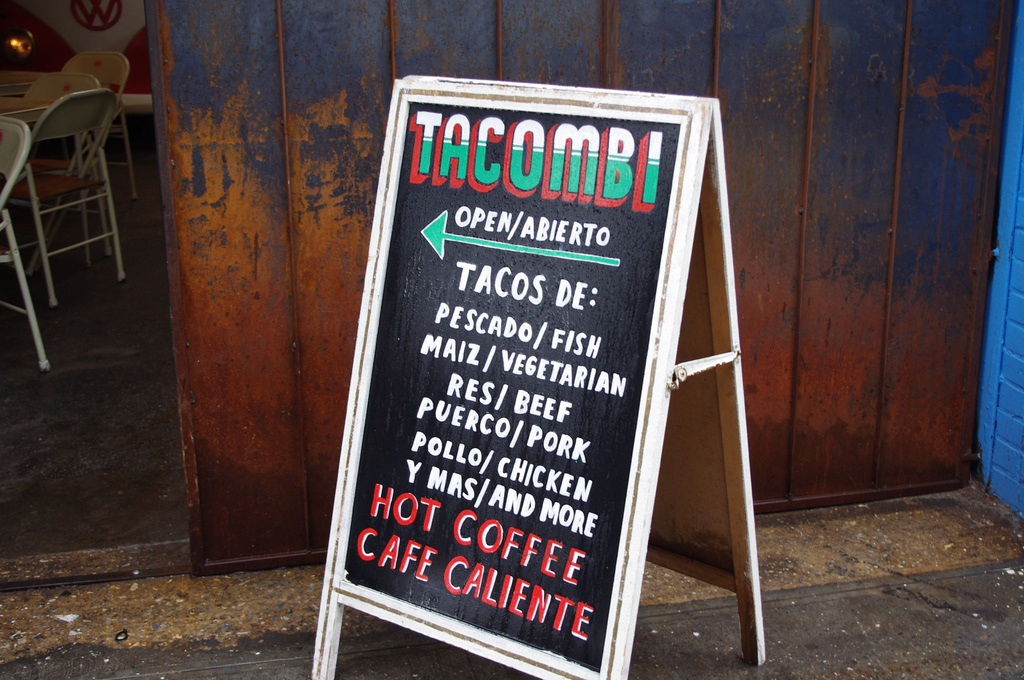 Store front at Tacombi in New York. Photo by alphacityguides.