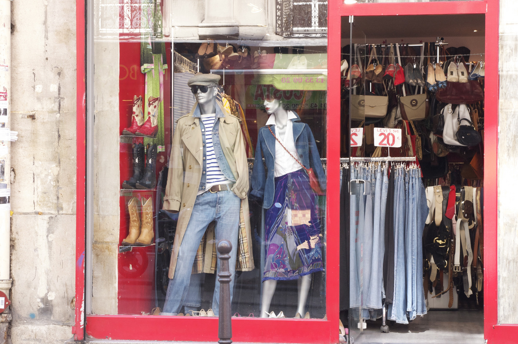 Storefront at ADOM in Paris. Photo by alphacityguides.